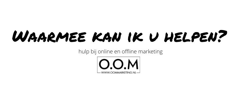 O.O.M Marketing helpt!